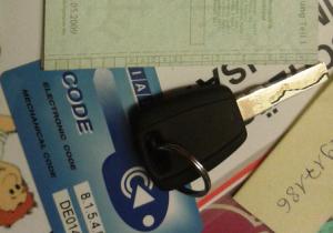 Fiat-Codekarte