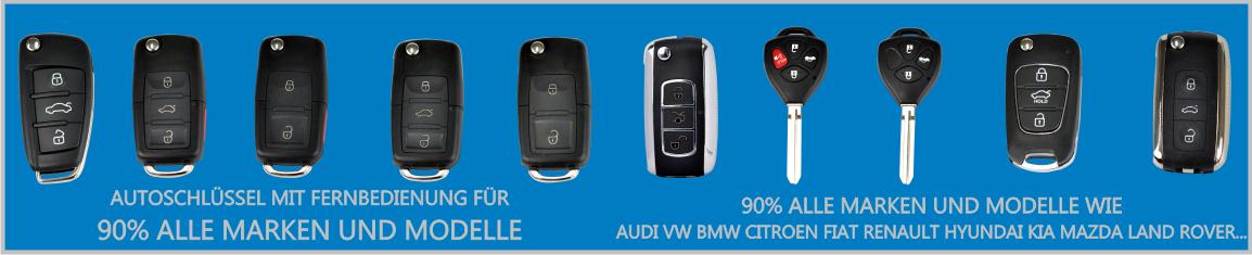 Fernbedienung Schlüssel für Audi BMW Mercedes VW und viele andere...